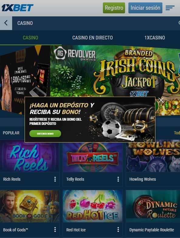 1xBet mobilais kazino